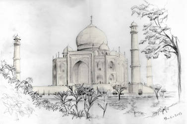 Taj Mahal Pencil by mmostafa