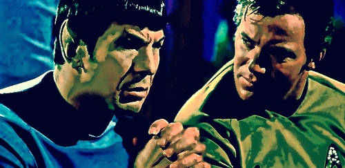 Spock and the Captain by ColonelFlagg