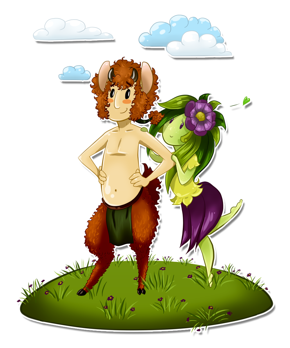 satyr and nymph by greensky222
