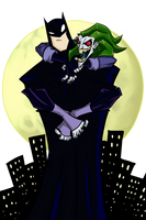 Joker and Batman by greensky222