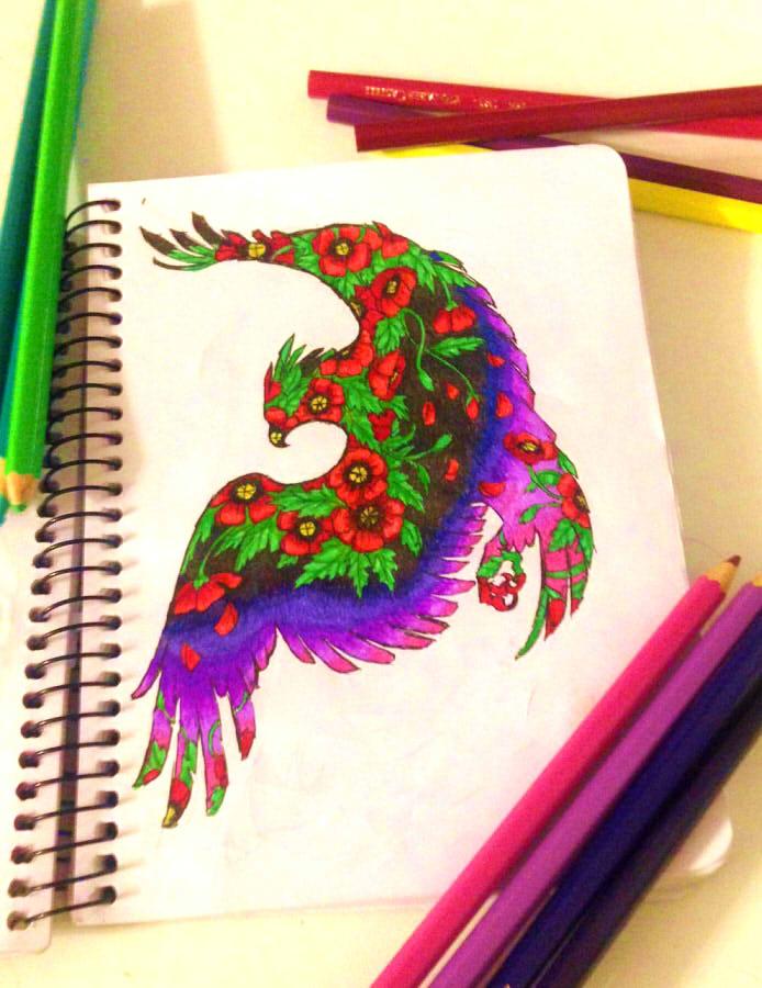 poppy bird by greensky222