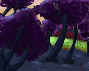 Environment Speedpaint- Forest of Violet