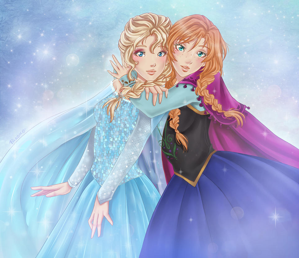 Sisters. Frozen by Phadme
