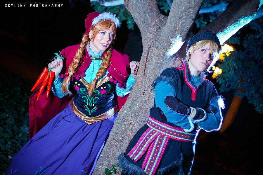 Kristoff and Anna by Phadme