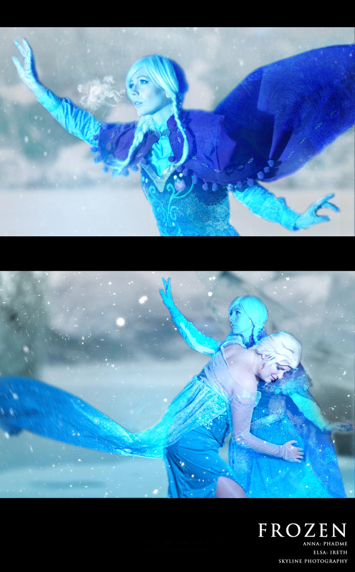 Elsa and Anna FROZEN by Phadme