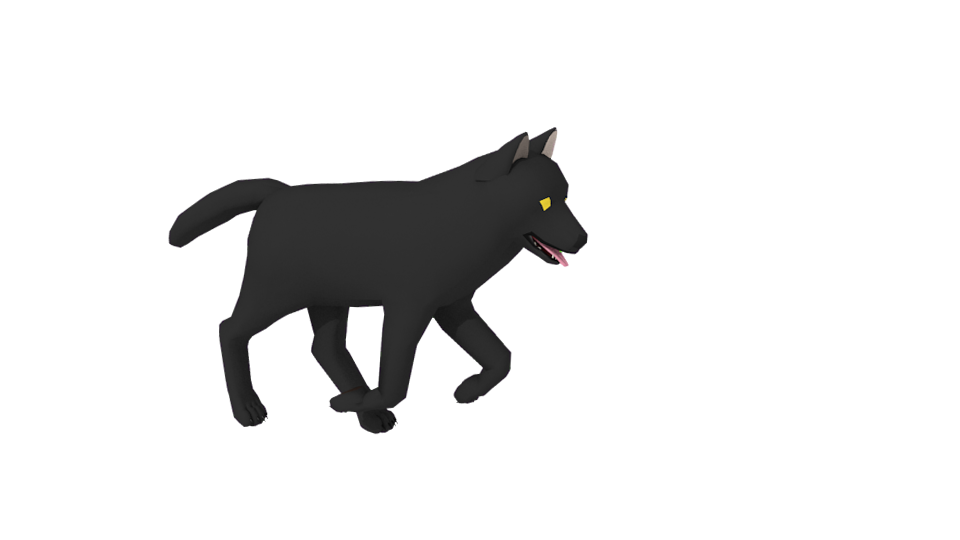 Black wolf by RunningGlade