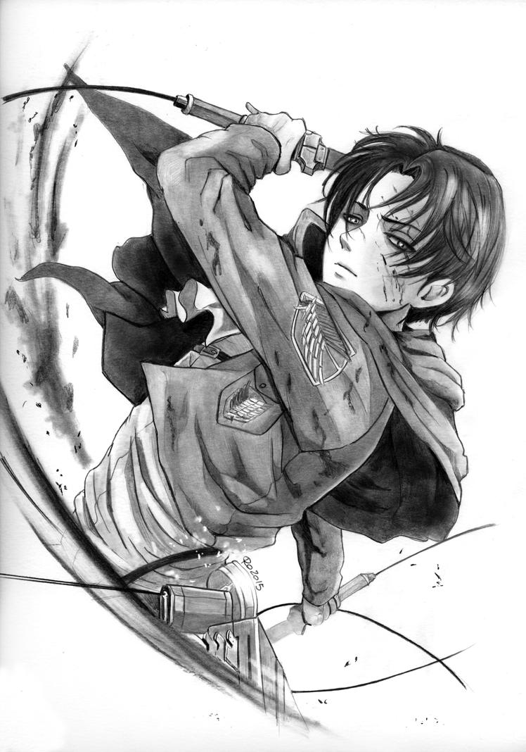 Levi action by Redwarrior3