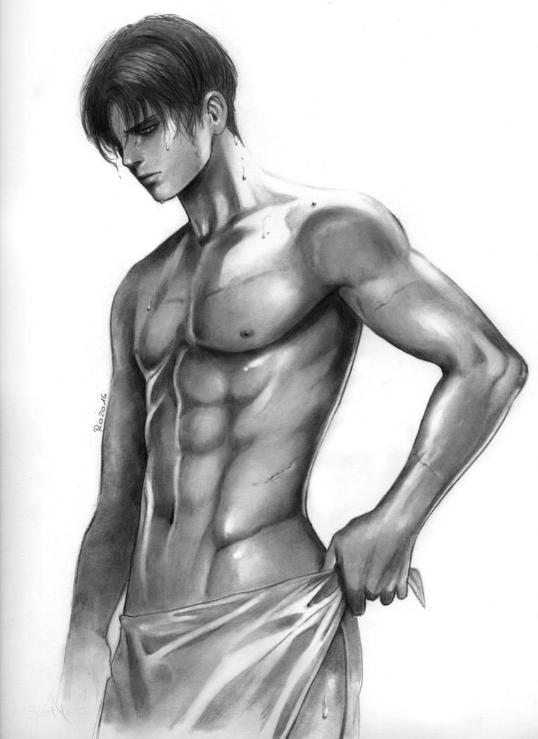 Levi shower by Redwarrior3