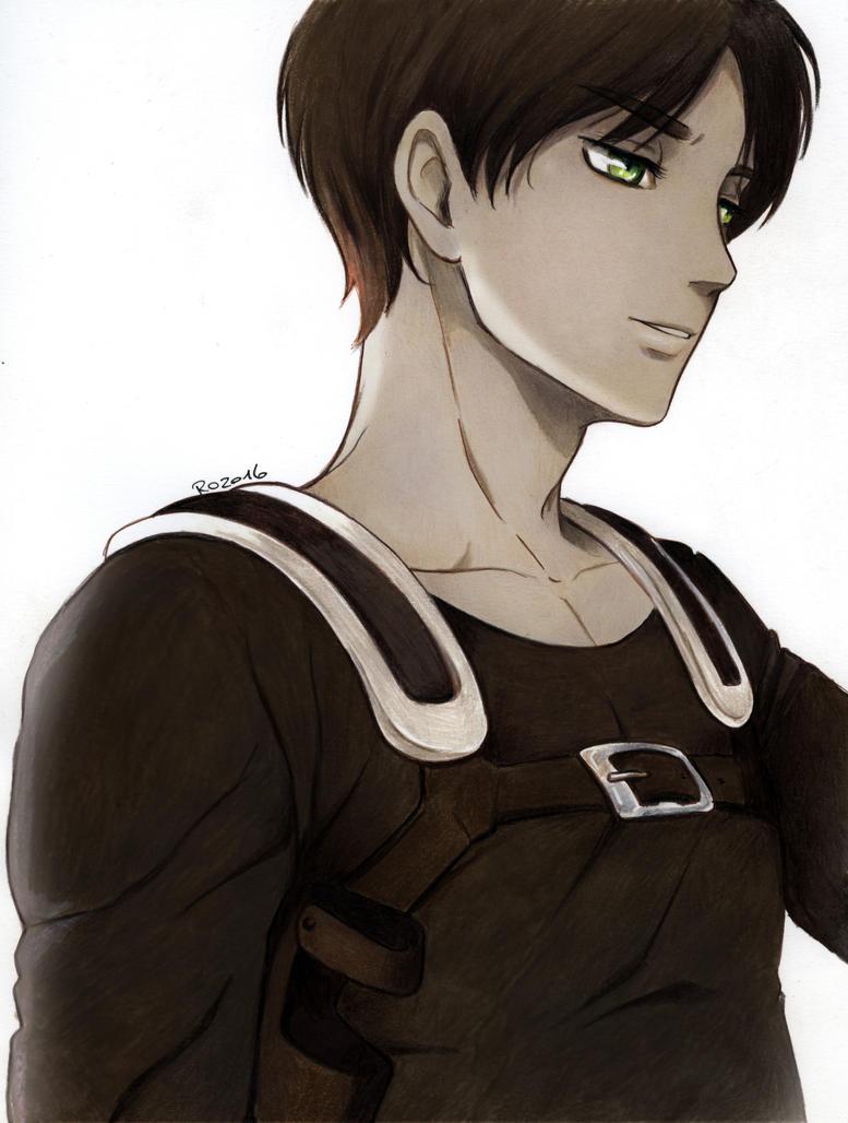 Eren Jaeger smile by Redwarrior3