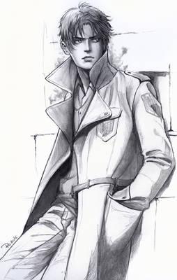 Eren Jaeger in Trench Survey-Corps Uniform