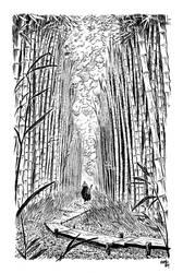 Illu Japon Bambou by superfanfan
