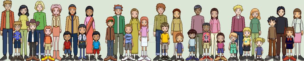 Digimon Americana Families