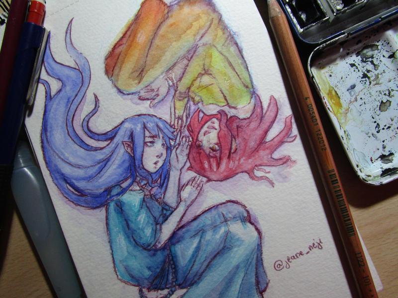 Watercolor two by JeaneNeji