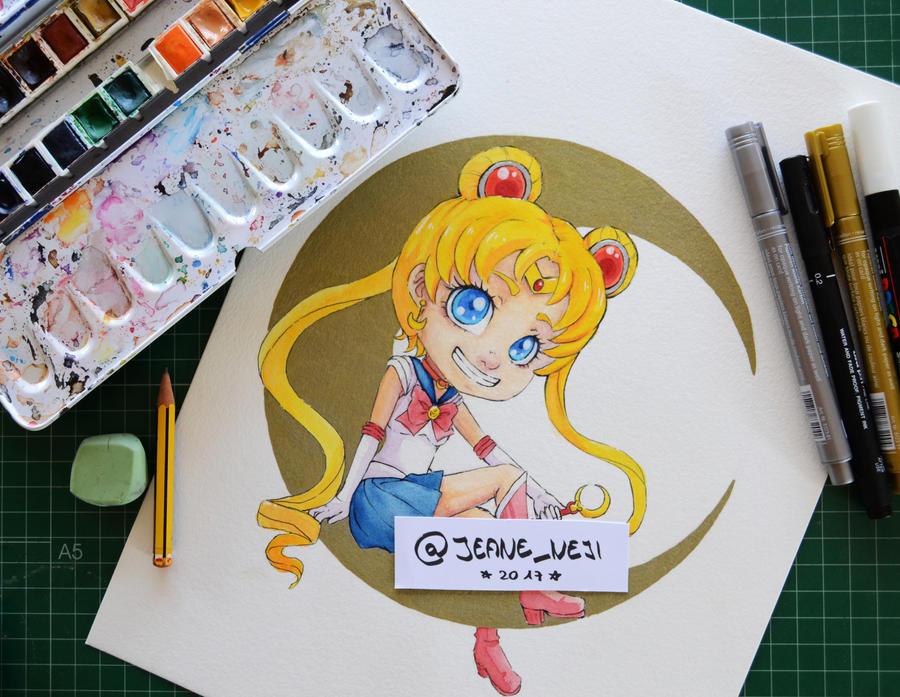Sailor Moon- FanArt by JeaneNeji