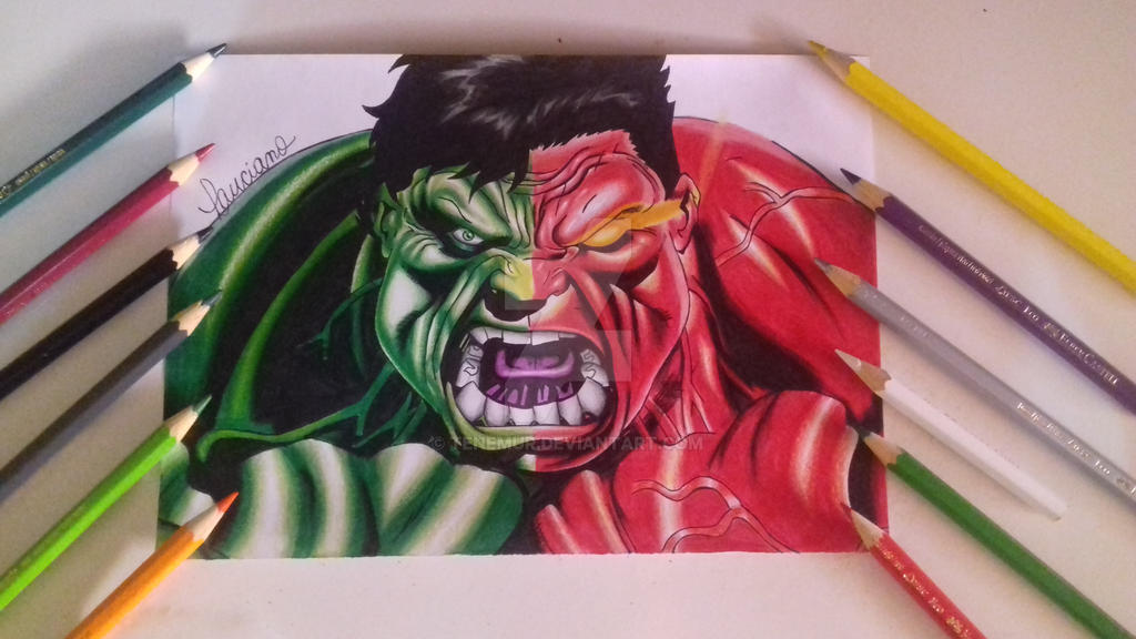 Hulk drawing by Tenemur