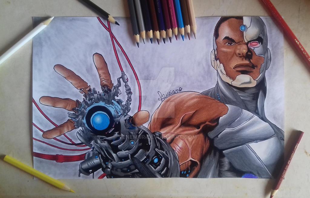 drawing cyborg by Tenemur