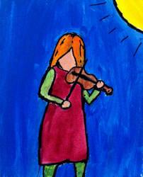 Fiddle Girl by jdteehan
