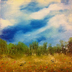 Small oil landscape by jdteehan