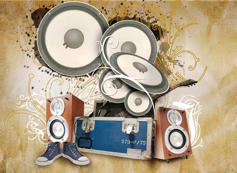 Grunge Music Poster