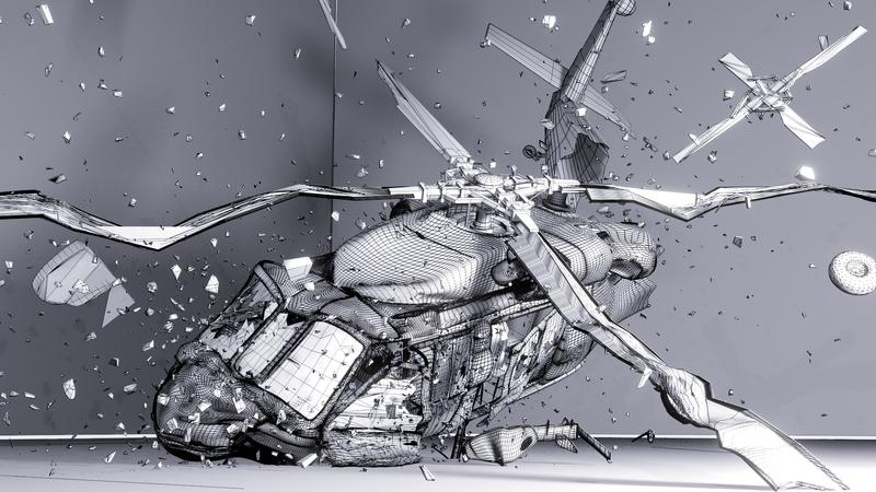 UH-60 crash WIRE by Gvs-13