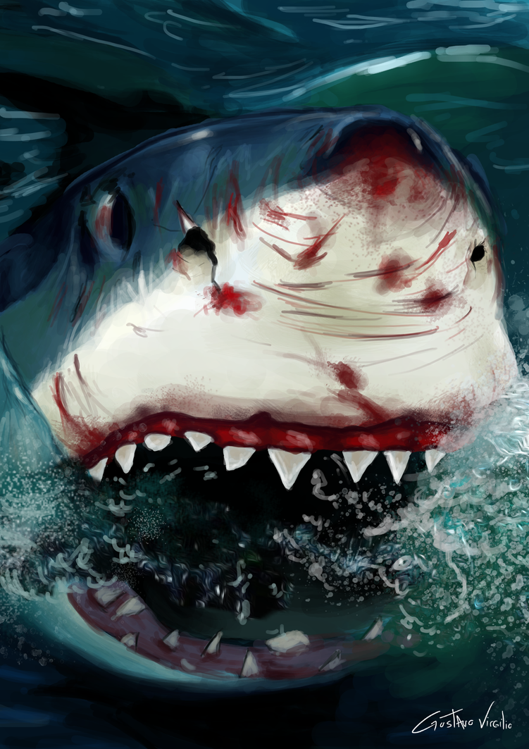 Shark attack - Speed painting by Gvs-13