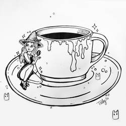 Coffee Witch / Inktober 2 by TailyCaos