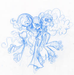 gGirl Group Hug by fyre-flye