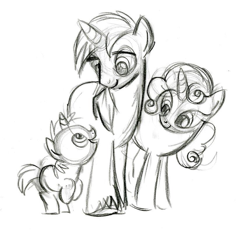 Unicorn Family by fyre-flye
