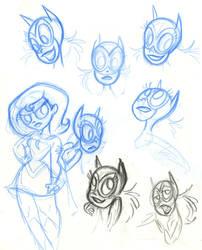 SBFF Batgirl face studies