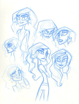 SBFF Wonder Girl face studies