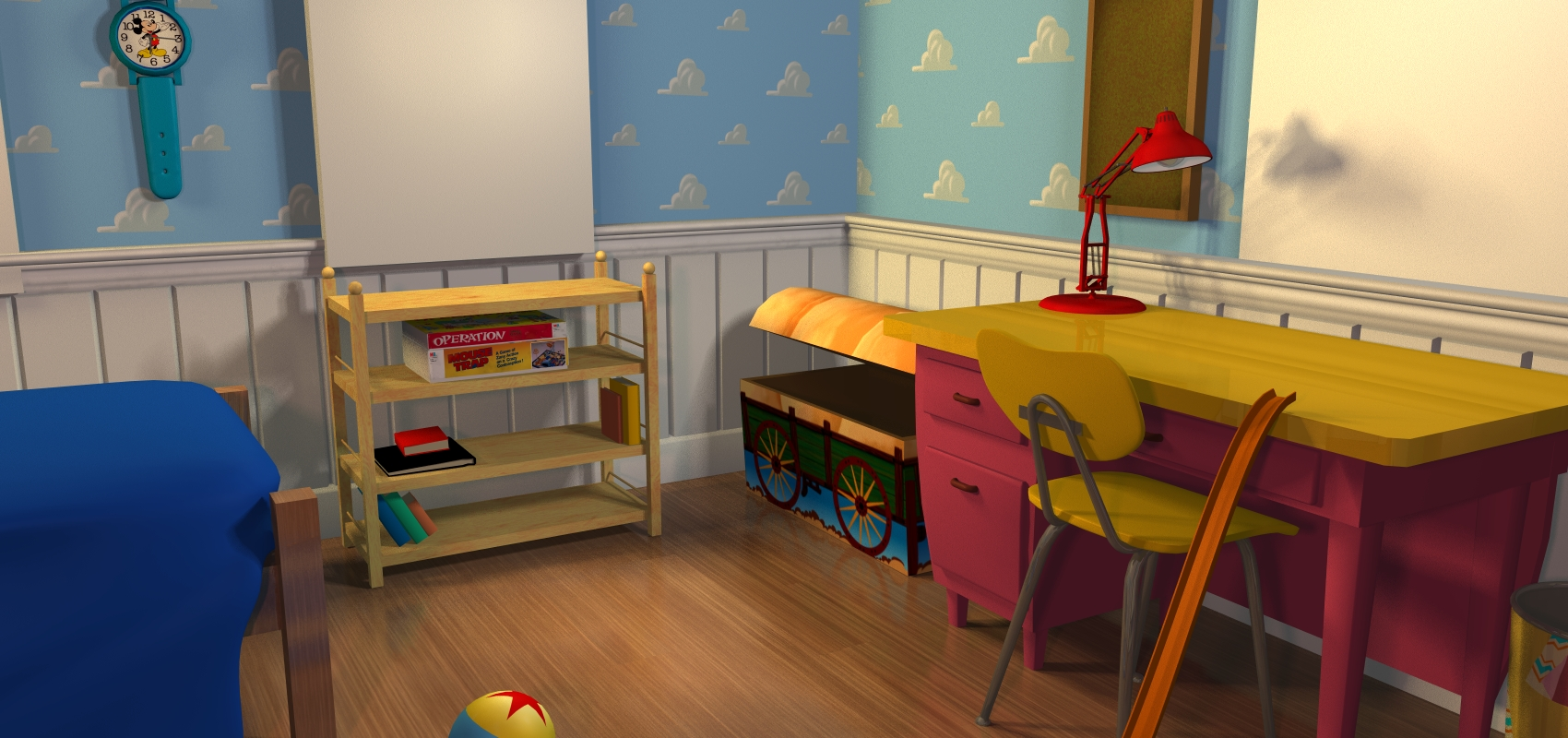 toy story andys room bed andy 39 s room angle 3 high res
