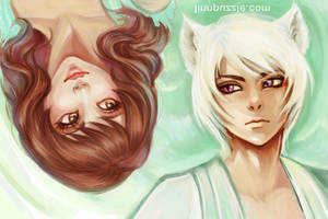 Nanami and Tomoe by Linnpuzzle