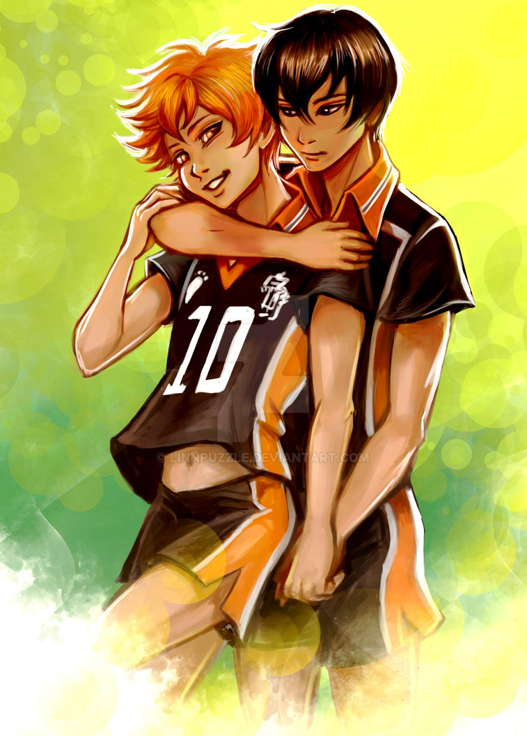 COMMISSION: Kagehina summer by Linnpuzzle