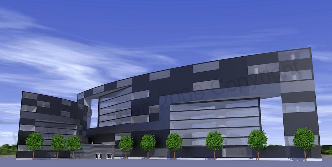 Modern Office Building by knoaman on DeviantArt
