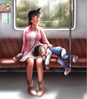 Train Ride Home by Patsuko