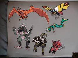 PRGF Kaiju Zords by NeonGenesisGuyverIII