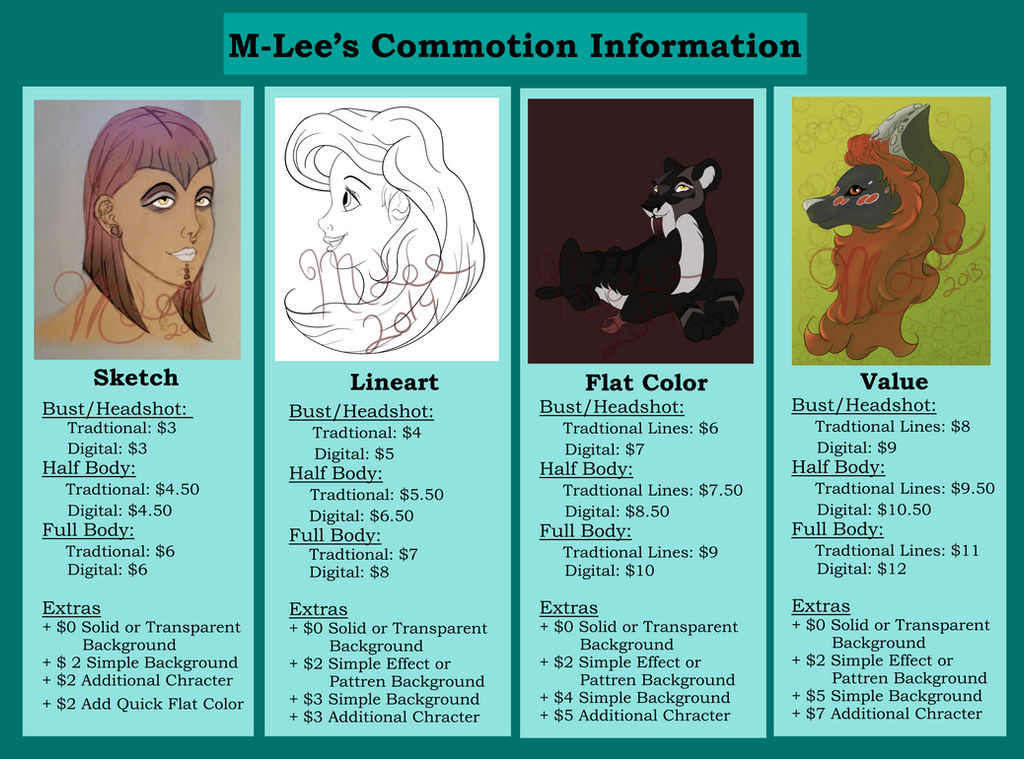 Commission Prices *Open* by M-Lee08