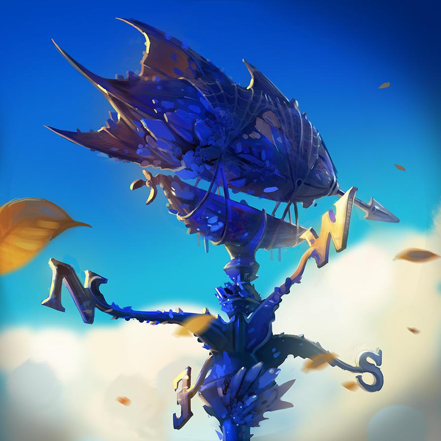 Skylanders Battlecast: Azurite Weathervane by krhart