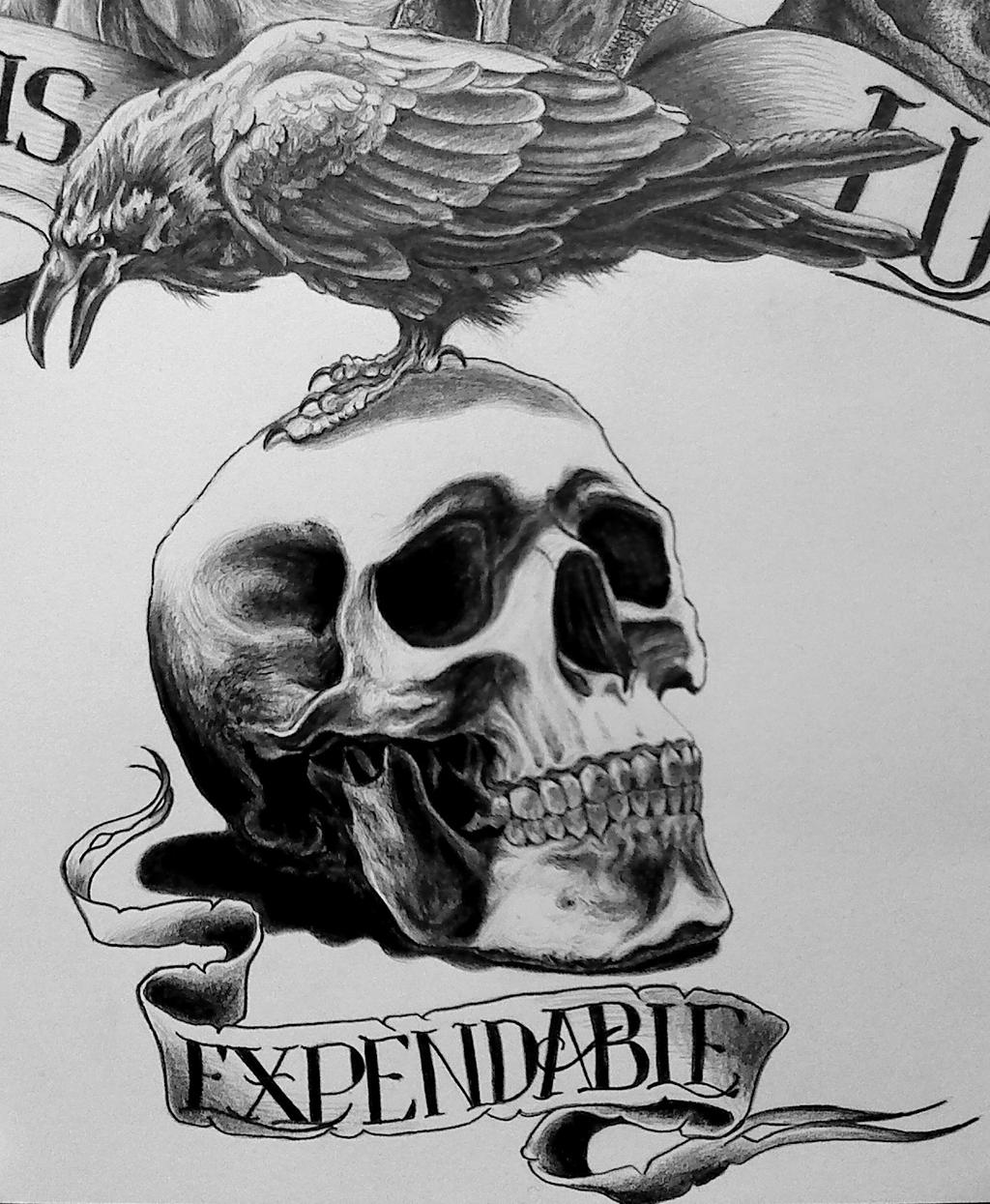 Expendables Tattoo Wallpaper Expendable Tattoo Drawing By: Expendables Logo By Damyanov On DeviantArt