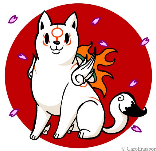 Chibi Okami Amaterasu by QueenCarolina on DeviantArt