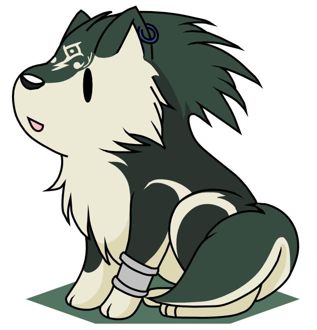 Sitting Chibi wolf Link