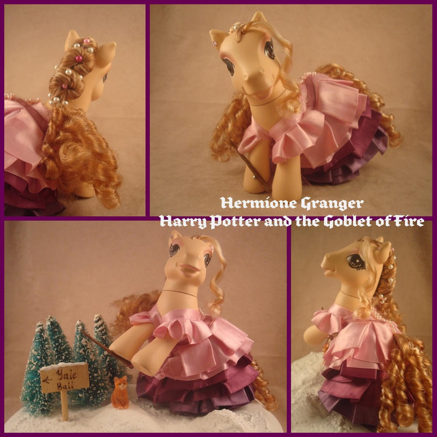 Hermione Granger custom pony by hannaliten