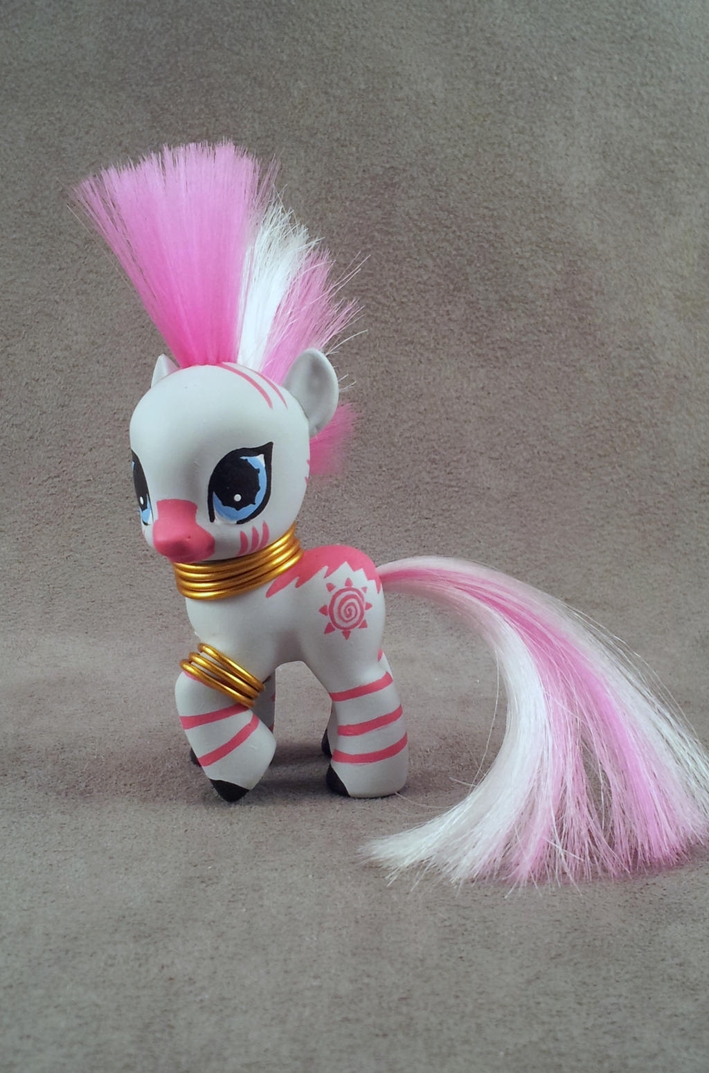 Pink filly Zecora custom MLP:FiM by hannaliten