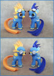 MLP: FiM - Filly Spitfire and colt Soarin -customs