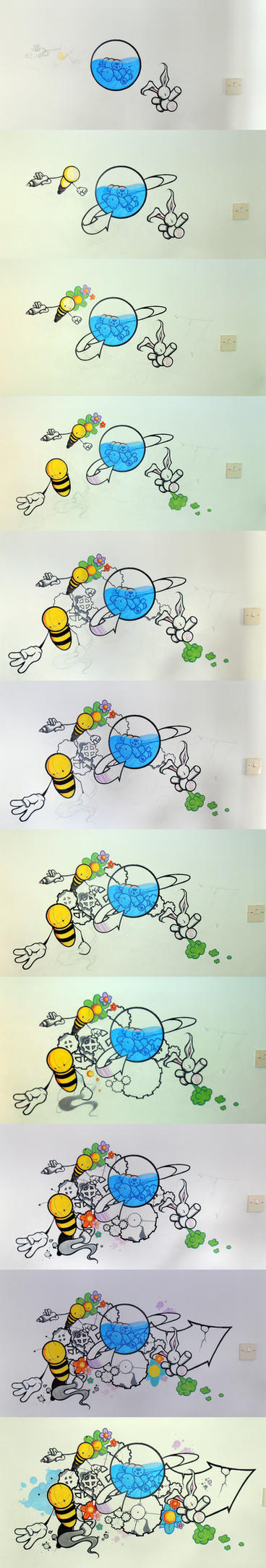 Marker Mural Tutorial by EUKEE