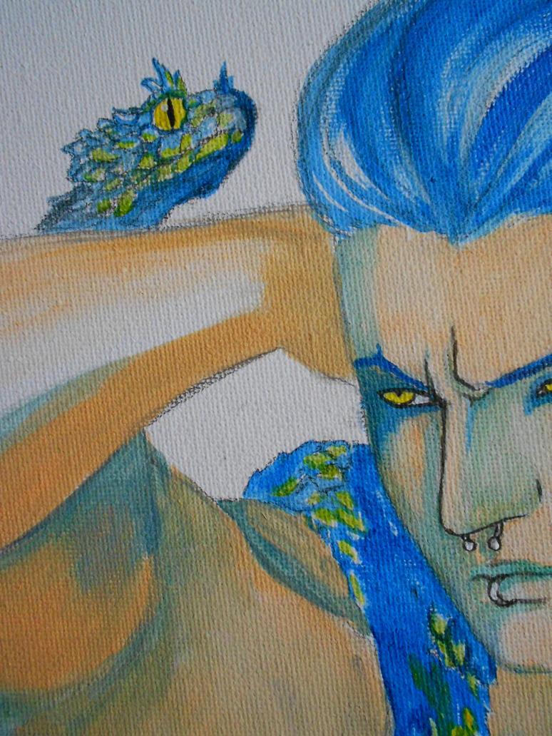 Snake god ( in progress ) by nakryd