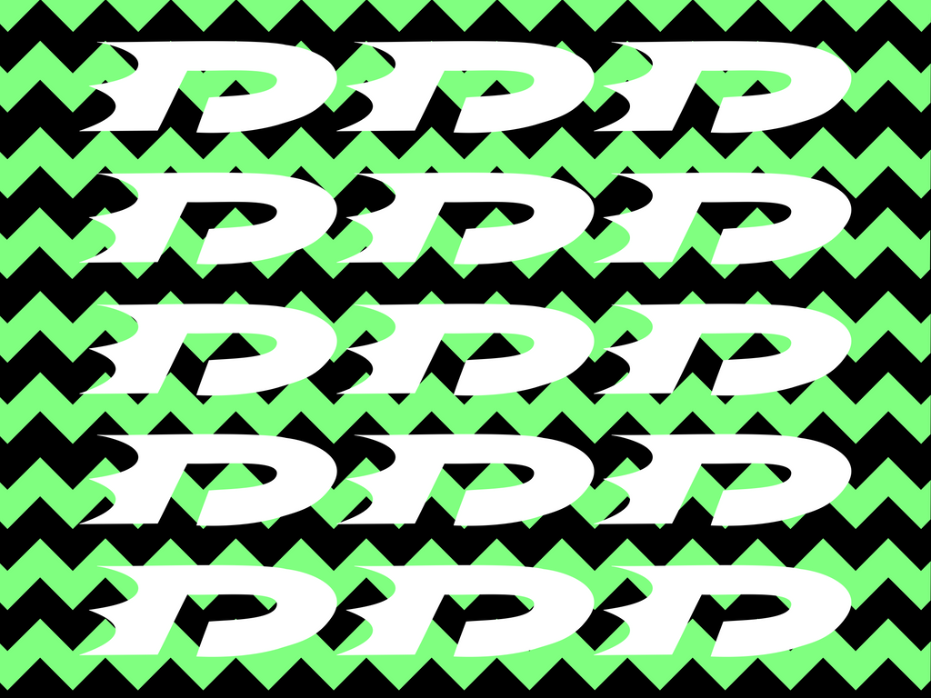 Danny phantom green striped wallpaper logos by OCPhantom