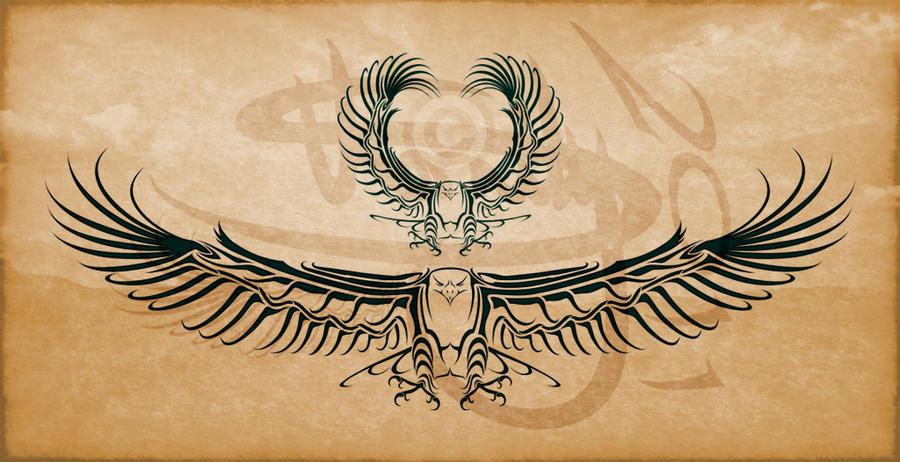 Eagle Tribal Tattoo Design by Amoebafire