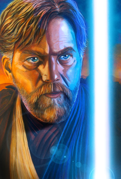 Star Wars portraits: Obi-Wan by vividfury