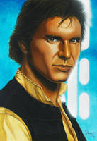 Star Wars portraits: Han by vividfury
